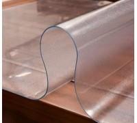 Мягкое стекло матовое-рифленое ПВХ 1,8 мм ширина 120 см