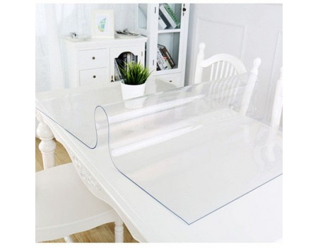 Покрытие защитное на стеклянный стол гибкое стекло 0,8 мм