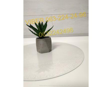 Подставки под тарелки на стол круглая, прозрачная мягкое стекло рифленая 2 мм