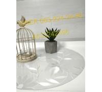 Подставка под тарелки круглая мягкое стекло 1.8 мм Ромашка матовое-рифленое ПВХ