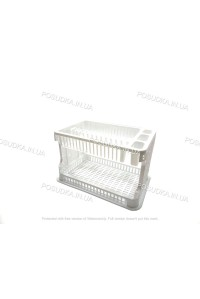 Сушилка для посуды Efe Plastics АЖУР 2 ярусная 42 см Белая