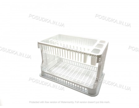 Сушилка для тарелок посуды пластиковая Efe Plastics Ажур белая