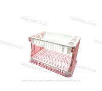 Сушилка для посуды Efe Plastics АЖУР 2 ярусная 42 см Розовая