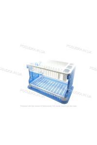 Сушилка для посуды Efe Plastics АЖУР 2 ярусная 42 см Голубая
