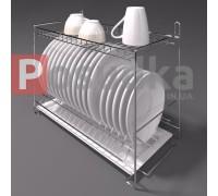 Сушилка для посуды с поддоном настольно-настенная 600 мм 2-ярусная хром SP-2622