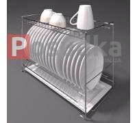 Сушилка для посуды в шкаф 60 см двухъярусная SN-2622