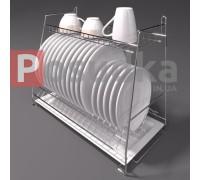 Навесная кухонная сушка Каскадная 400 мм 2-ярусная хром ST-2422