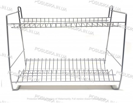 Подвесная сушилка для посуды двухуровневая 600 мм хромированная ST-2622