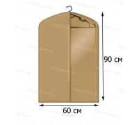 Кофр для одежды с прозрачной вставкой КОФПРОМ 60*90 см бежевый