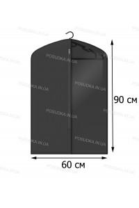 Кофр для одежды с прозрачной вставкой КОФПРОМ 60*90 см черный