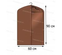 Кофр для одежды с прозрачной вставкой КОФПРОМ 60*90 см коричневый