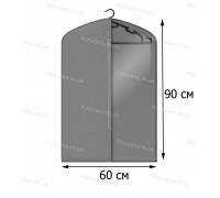 Кофр для одежды с прозрачной вставкой КОФПРОМ 60*90 см серый