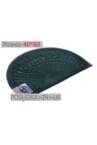 Придверный коврик полукруглый 40*60 см Рамка изумрудно-зеленый