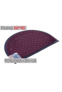 Придверный коврик полукруглый 60*90 см Рамка бордовый