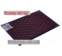 Придверный коврик с рисунком 40*60 см Рамка бордовый