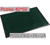 Придверный коврик с рисунком 40*60 см Рамка изумрудно-зеленый