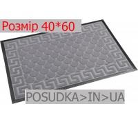 Придверный коврик с рисунком 40*60 см Рамка серый