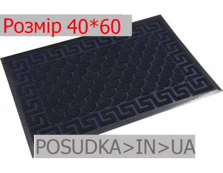 Придверный коврик с рисунком 40*60 см Рамка темно-синий