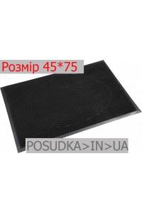Придверный коврик с рисунком 45*75 см Рамка черный