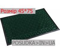 Придверный коврик с рисунком 45*75 см Рамка изумрудно-зеленый
