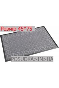 Придверный коврик с рисунком 45*75 см Рамка серый