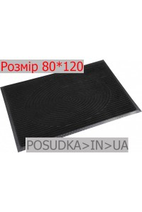 Придверный коврик с рисунком 80*120 см Рамка черный
