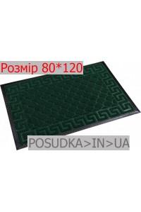 Придверный коврик с рисунком 80*120 см Рамка изумрудно-зеленый