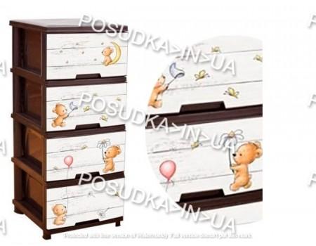 Комод для ребенка пластикоый Алеана Медвежата 123093