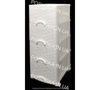Пластиковый комод белый Ажур 4 ящика Efe Plastics