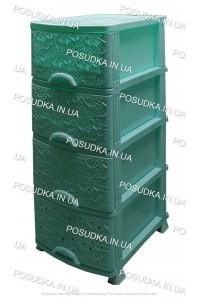Пластиковый комод мятный Ажур 4 ящика Efe Plastics