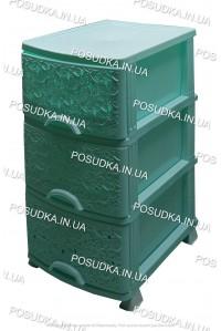 Пластиковый комод мятный Ажур 3 ящика Efe Plastics