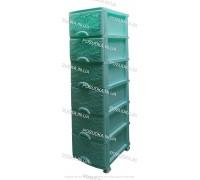 Пластиковый комод мятный Ажур 6 ящиков Efe Plastics