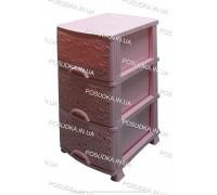Пластиковый комод розовый Ажур 3 ящика Efe Plastics