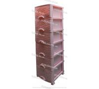 Пластиковый комод розовый Ажур 6 ящиков Efe Plastics