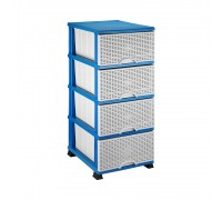 Комод пластмассовый Elif Plastik Wicker серо-голубой 296-3