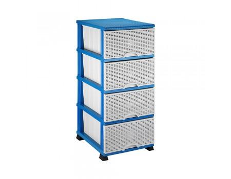 Комод для ванной комнаты Elif Plastik Wicker серо-голубой 296-3