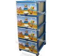 Комод для мальчика пластиковый Море на 4 ящика Elif Plastik 298-40-4
