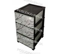 Комод пластиковый Мрамор на 3 ящика Elif Plastik 398-4-3