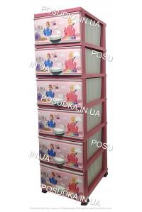 Комод для девочки пластиковый Принцесса на 6 ящиков Elif Plastik 298-30-6