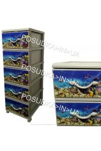 Комод для хранения пластиковый на 5 ящиков Аквариум Senyayla Plastik