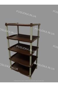 Полка для обуви пластиковая бежево-коричневая Efe Plastics 5 ярусная