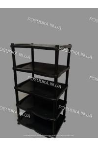 Полка для обуви пластиковая черная Efe Plastics 5 ярусная