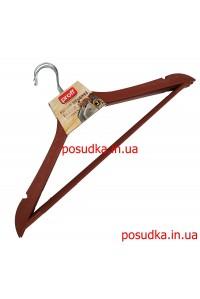 Набор плечиков Пластик серия под дерево коричневые 44.5 см 3 шт
