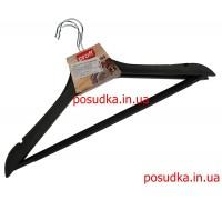 Набор плечиков Пластик серия под дерево черные 44.5 см 3 шт
