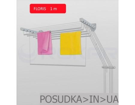 Сушилка настенно-потолочная для белья Флорис 1 м