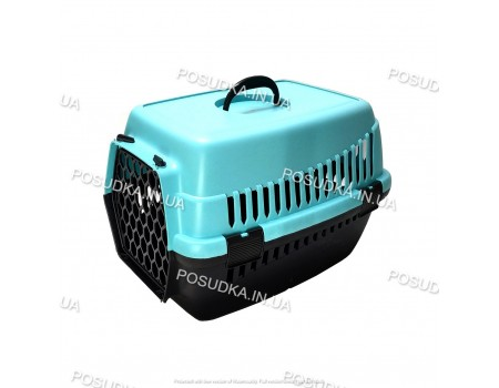 Контейнер для транспортировки животного Senyayla голубой