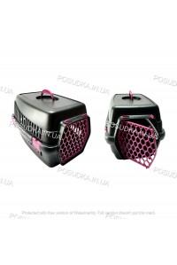 Переноска для котов, собак, мелких животных Senyayla розовая