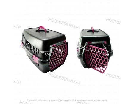Переноска корзина для кошек, животных Senyayla розовая