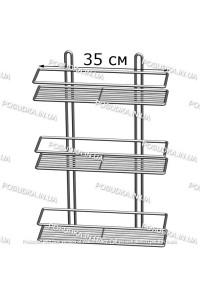 Полочка прямоугольная 35 см 3-ярусная хром ПП-3532