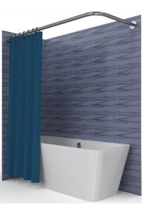Карниз для ванной угловой Г-образный нержавейка 70*100 см